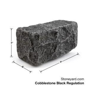 Stoneyard Cobblestone Black Regulation 9x5x5 inch