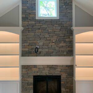 Boston Blend Ledgestone Fireplace Haydt Construction PA