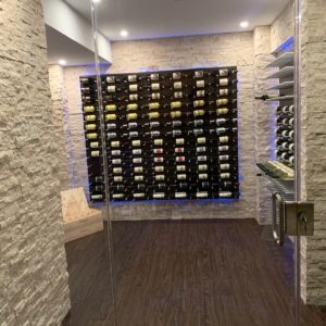 Stoneyard Stone Panel Durango Cream Ledger Panel Wine Cellar