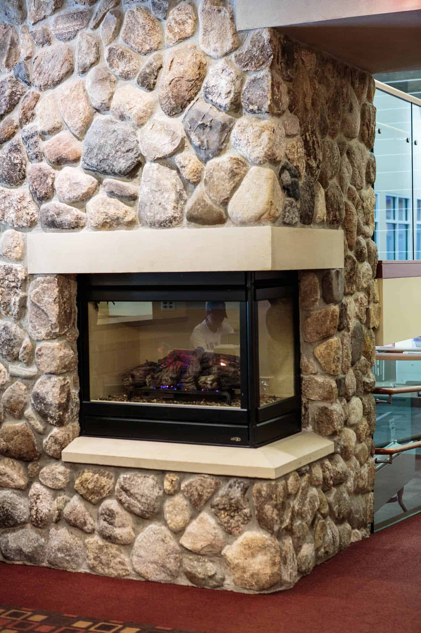Rustic And Traditional Fireplace Stone Examples