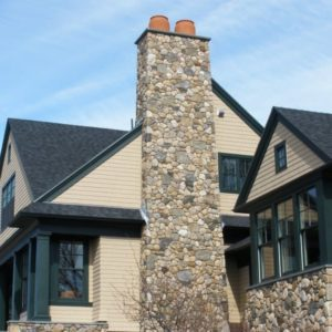 New England Fieldstone Boston Blend Round & Ledgestone Veneer - RDK Construction: Maynard, MA; (978) 897-4622