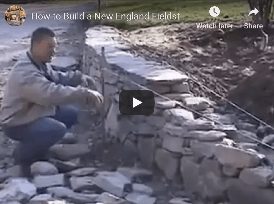 How To Install A Dry Laid Fieldstone Wall Stoneyard 174